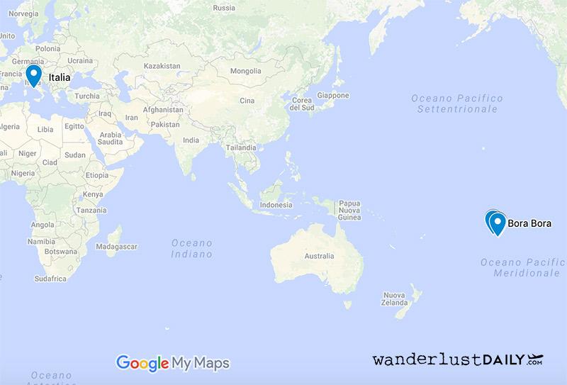Cartina Mondo Bora Bora.Come Arrivare A Bora Bora Info Per Il Viaggio Di Una Vita