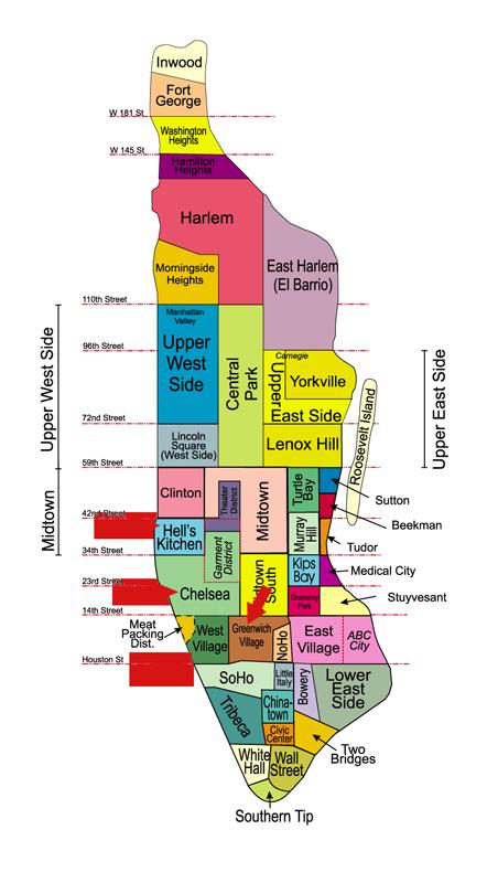 quartieri-di-new-york-mappa