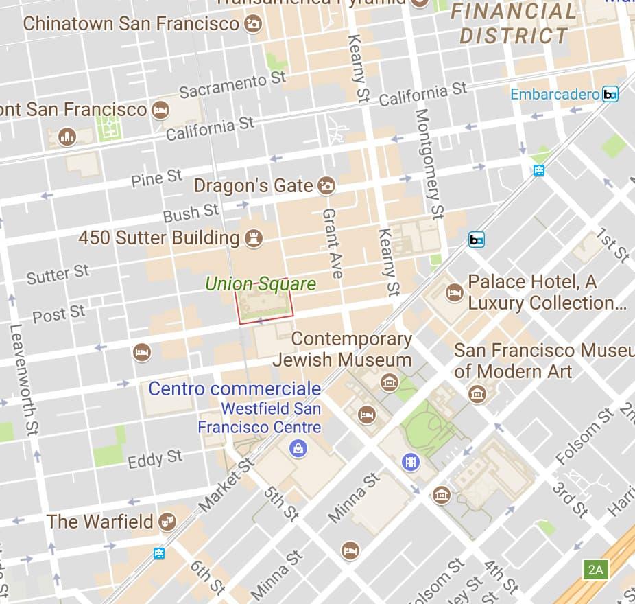 dove dormire a San Francisco union square