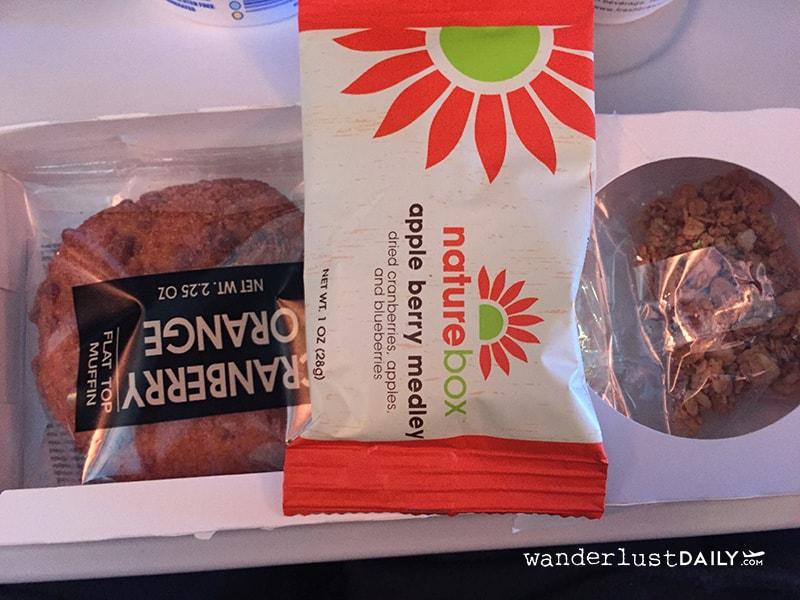 recensione american airlines colazione