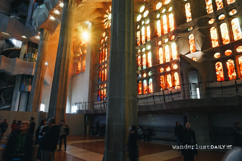 visitare la Sagrada Familia all'interno