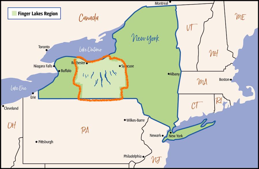 regione dei finger lakes, new york
