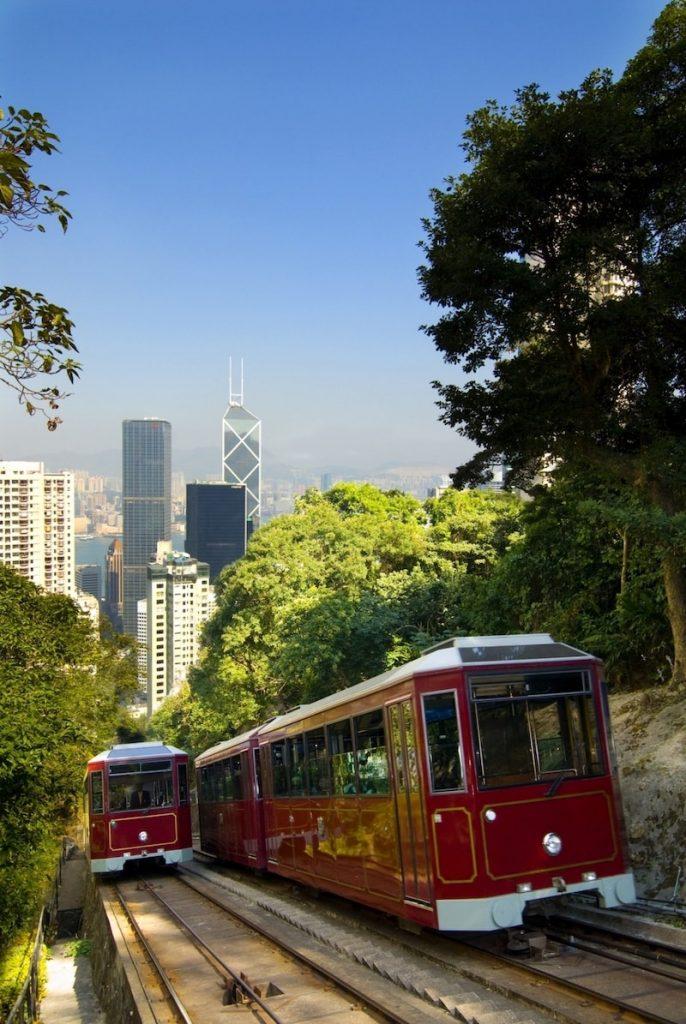 victoria peak hong kong tram