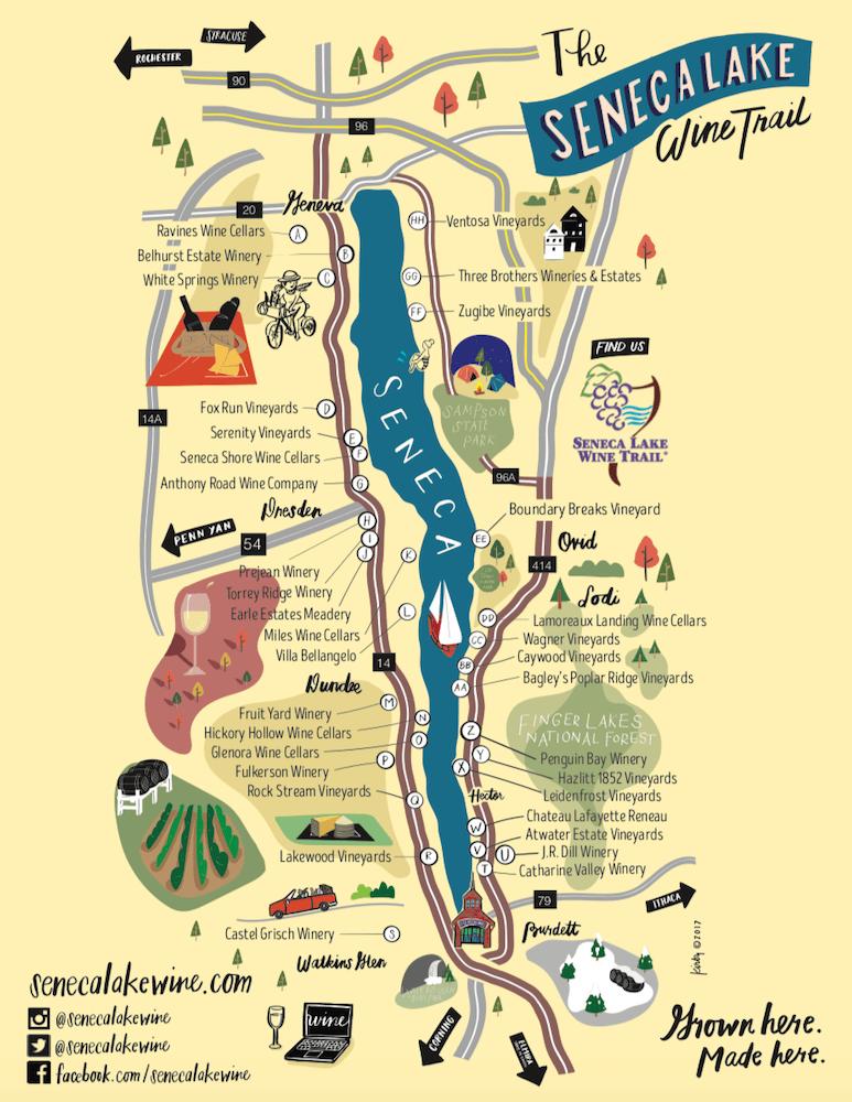 cosa vedere nello stato di new york - seneca lake wine trail