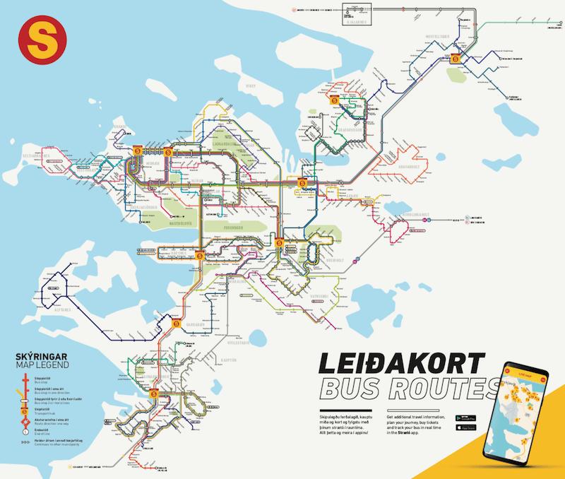 viaggio in islanda senza macchina: rete di trasporti reykjavik