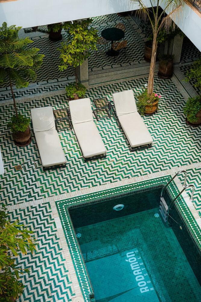 riad in marocco con piscina